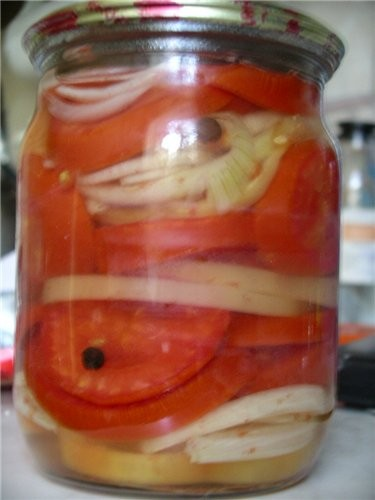 Помидоры с луком на зиму салат рецепты с