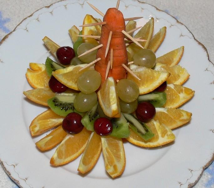 Елочка из фруктов своими руками фото
