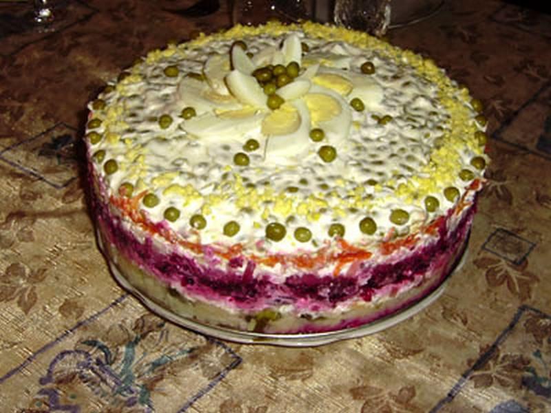Овощной торт со свеклой рецепты