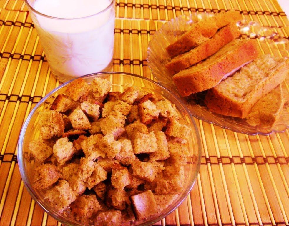 Как дома сделать сухарики из черного хлеба
