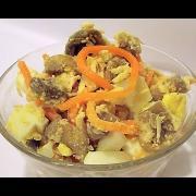 Куриный Салат с Грибами и Корейской Морковью «Ароматный» кулинарный видео рецепт