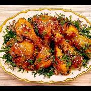 Курица в медово-соевом маринаде, запеченная в духовке. Новогодний рецепт.