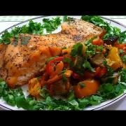 Красная Рыба с Овощами в духовке