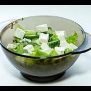 Зелёный Весенний Салат с Брынзой видео рецепт
